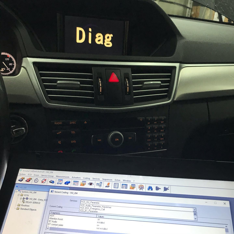 Активация Bluetooth Audio на #mercedes #w212 #екатеринбург