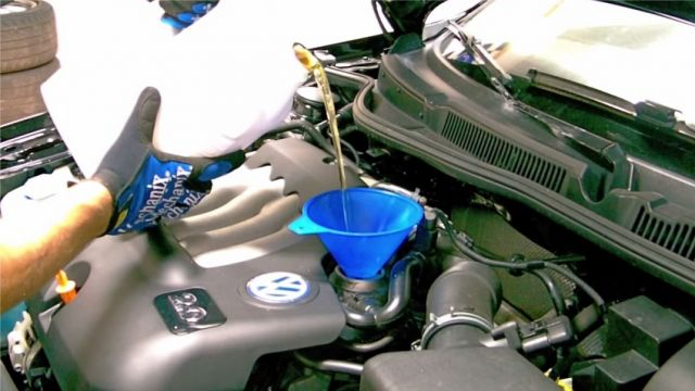 Замена масла VW